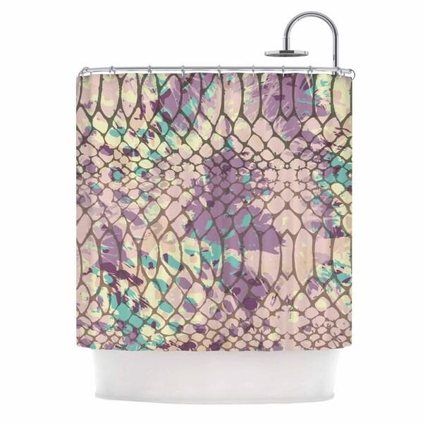 KESS InHouse Chickaprint Snakeskin Pink Lavender Shower Curtain (69x70)