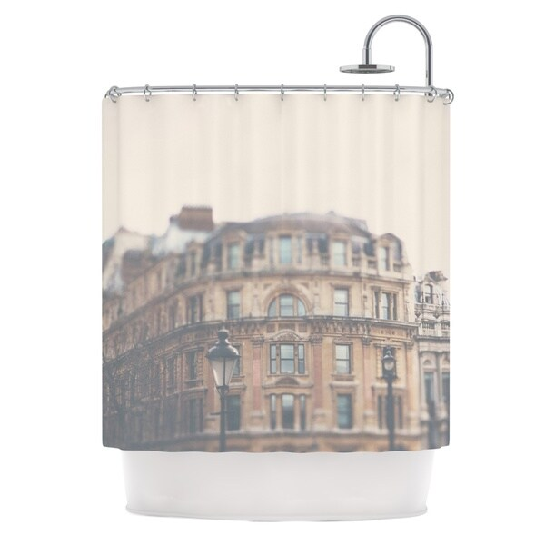 KESS InHouse Laura Evans London Town Brown Shower Curtain (69x70)