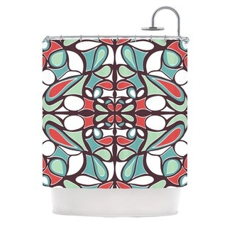 KESS InHouse Miranda Mol Brown Round Tiles Shower Curtain (69x70)