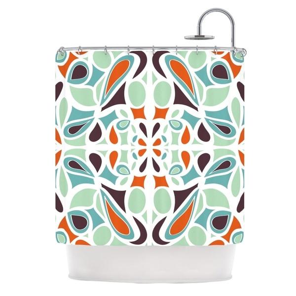KESS InHouse Miranda Mol Orange Purple Stained Glass Shower Curtain (69x70)