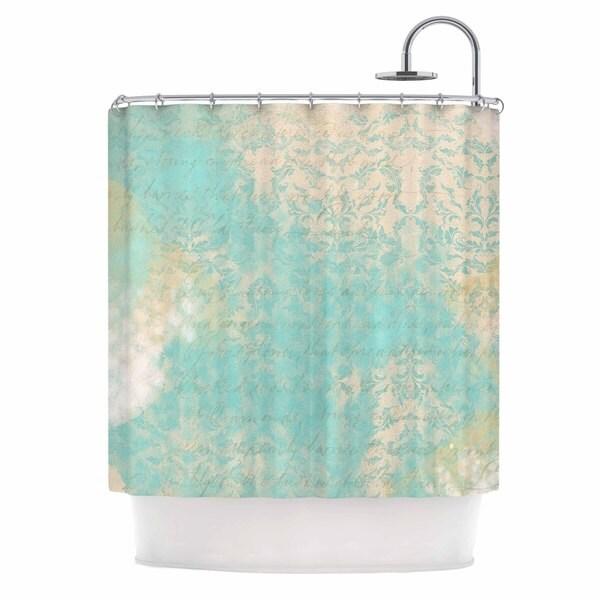 KESS InHouse Li Zamperini Vintage II Teal Tan Shower Curtain (69x70)