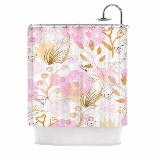 KESS InHouse Li Zamperini Spring Time Pink Beige Shower Curtain (69x70)