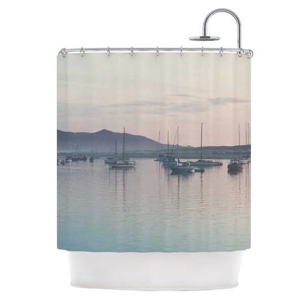 KESS InHouse Laura Evans As the Sun Goes Down Grey Pastel Shower Curtain (69x70)