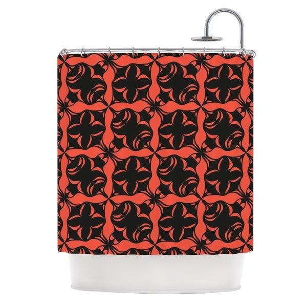KESS InHouse Miranda Mol Oval Orange Love Shower Curtain (69x70)