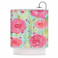 KESS InHouse Li Zamperini Spring Floral Pink Shower Curtain (69x70)