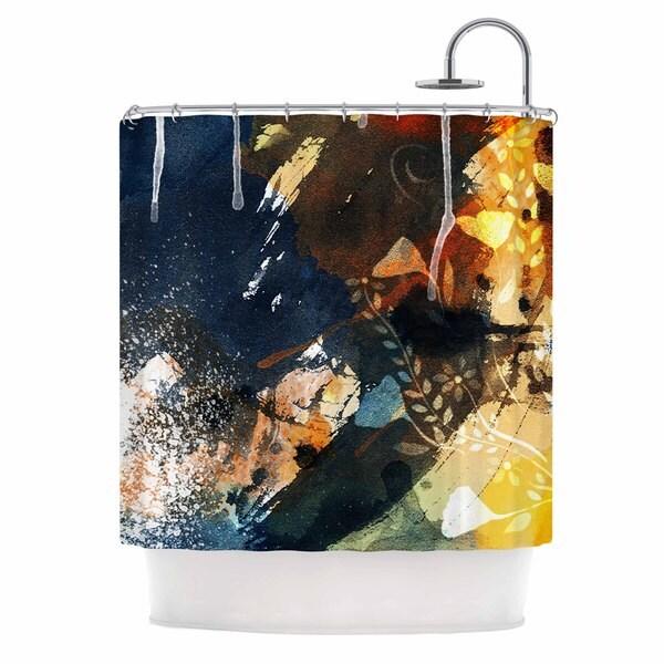 KESS InHouse Li Zamperini Blue Blue Gold Shower Curtain (69x70)