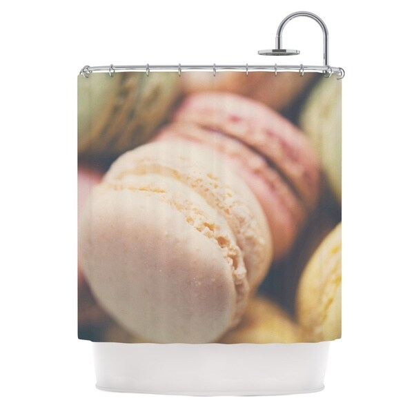 KESS InHouse Laura Evans Macaroon Goodness Pastel Food Shower Curtain (69x70)