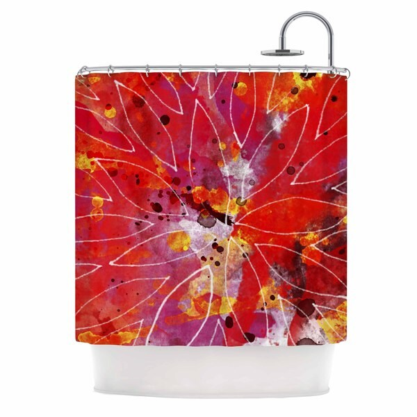 KESS InHouse Li Zamperini Flame Red Yellow Shower Curtain (69x70)