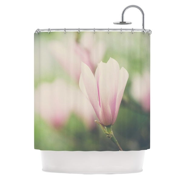 KESS InHouse Laura Evans A Pink Magnolia Pink Green Shower Curtain (69x70)