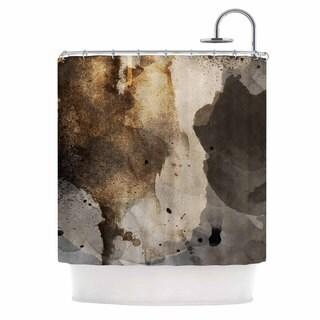 KESS InHouse Li Zamperini Today Beige Brown Shower Curtain (69x70)