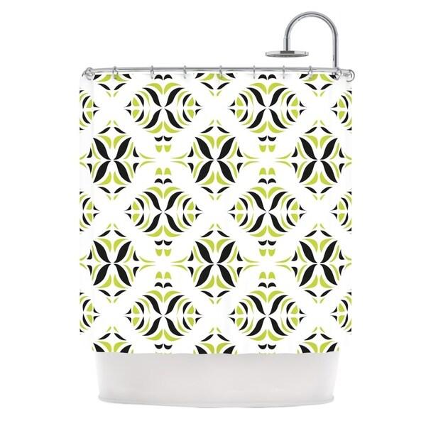 KESS InHouse Miranda Mol Lime Green Rainforest Shower Curtain (69x70)
