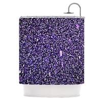 KESS InHouse Maynard Logan Purple Dots Shower Curtain (69x70)