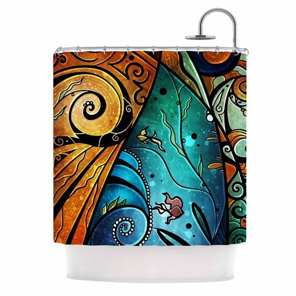 KESS InHouse Mandie Manzano You Must Believe Blue Purple Shower Curtain (69x70)