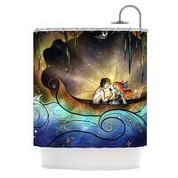 KESS InHouse Mandie Manzano Something About Her Mermaid Shower Curtain (69x70)