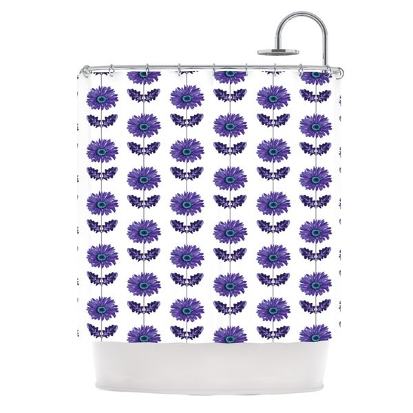 KESS InHouse Laura Escalante Purple Gerbera Lavender Flower Shower Curtain (69x70)