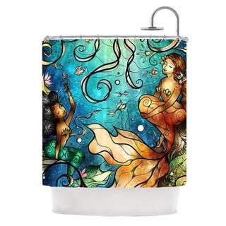 KESS InHouse Mandie Manzano Under the Sea Mermaids Shower Curtain (69x70)