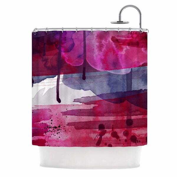 KESS InHouse Li Zamperini Purple Purple Pink Shower Curtain (69x70)