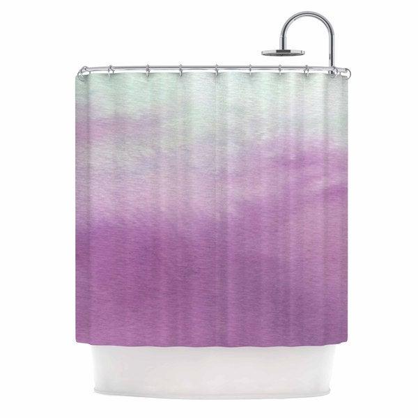 KESS InHouse Li Zamperini Ombre Green Purple Shower Curtain (69x70)