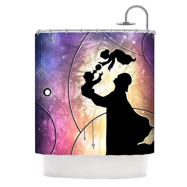 KESS InHouse Mandie Manzano Father's Day Star Wars Shower Curtain (69x70)
