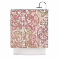 KESS InHouse Chickaprint Chintz Gold Pink Shower Curtain (69x70)