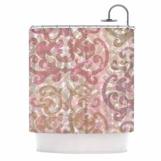 KESS InHouse Chickaprint Chintz Gold Pink Shower Curtain (69x70)