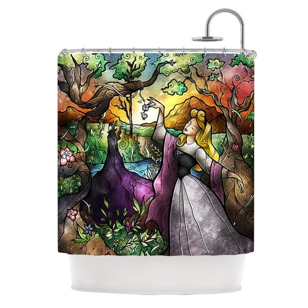 KESS InHouse Mandie Manzano I Know You Fairytale Forest Shower Curtain (69x70)