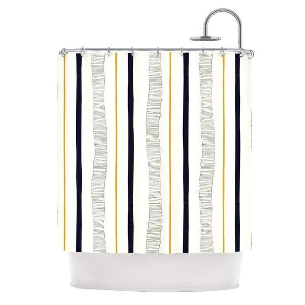 KESS InHouse Laurie Baars Textured Stripes Abstract Lines Shower Curtain (69x70) - 69 x 70