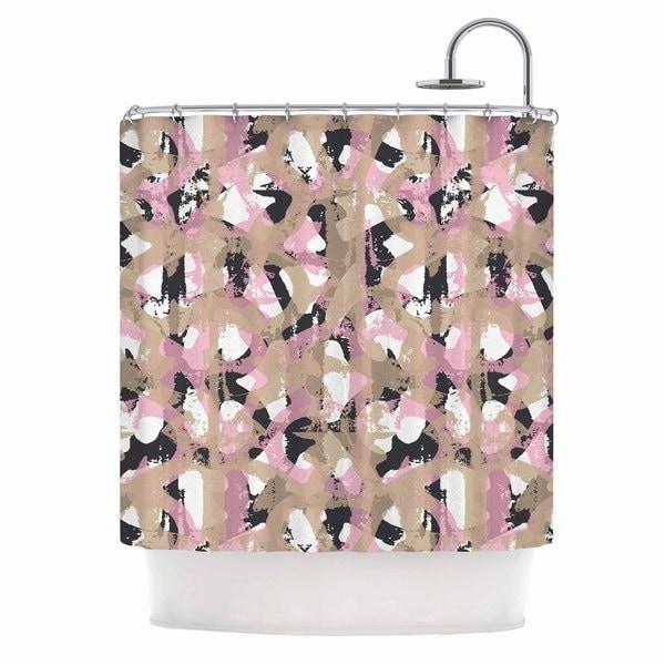 KESS InHouse Chickaprint Skap Pink Gold Shower Curtain 69x70