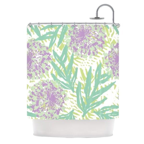 KESS InHouse Chickaprint Varen Purple Green Shower Curtain (69x70)