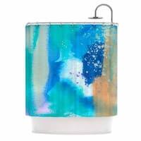 KESS InHouse Li Zamperini About Blue Teal Shower Curtain (69x70)