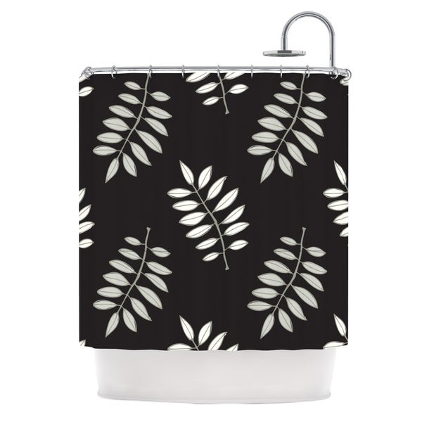 KESS InHouse Laurie Baars Pagoda Leaf Floral Illustration Shower Curtain (69x70)