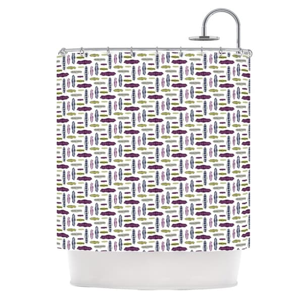 KESS InHouse Laurie Baars Pods Yellow Purple Shower Curtain (69x70)