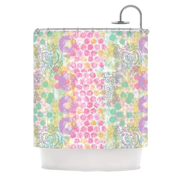 KESS InHouse Chickaprint Impression Pastel Mix Shower Curtain (69x70)