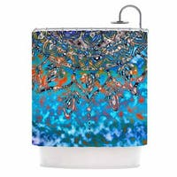 KESS InHouse Li Zamperini Turquoise Mandala Art Blue Aqua Shower Curtain (69x70)
