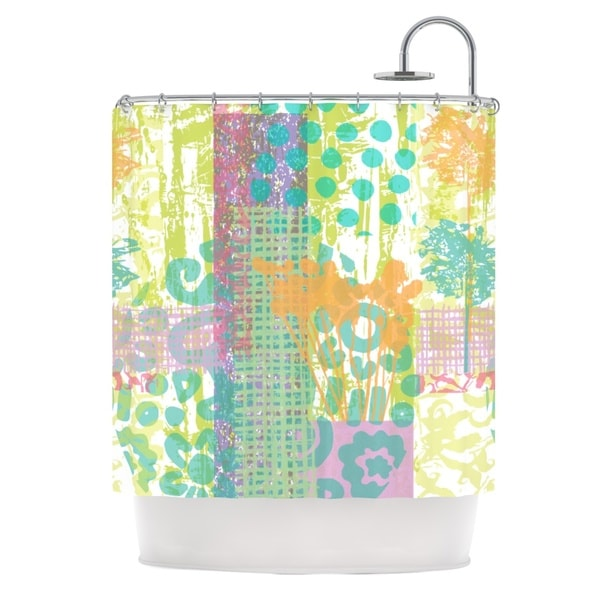 KESS InHouse Chickaprint Dazed Pastel Splatter Shower Curtain (69x70)