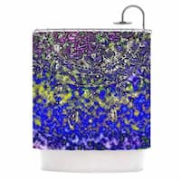 KESS InHouse Li Zamperini Multicolor Mandala Art Blue Abstract Shower Curtain (69x70)
