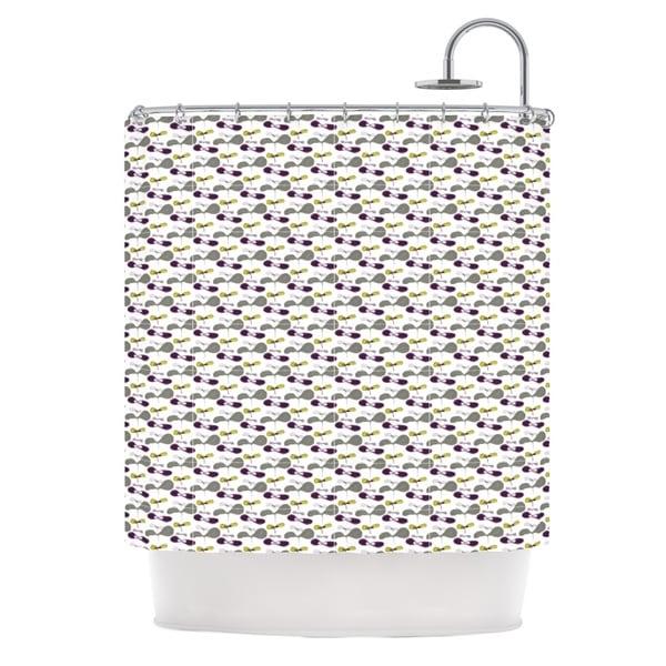 KESS InHouse Laurie Baars Mapleseeds Plum Yellow Purple Shower Curtain (69x70)