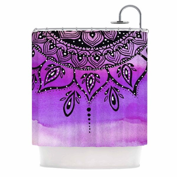 KESS InHouse Li Zamperini Lilac Mandala Lavender Purple Shower Curtain (69x70)
