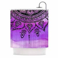 KESS InHouse Li Zamperini Lilac Mandala Lavender Purple Shower Curtain (69x70)