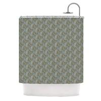 KESS InHouse Laurie Baars Ferns Vines Green Brown Aqua Shower Curtain (69x70)