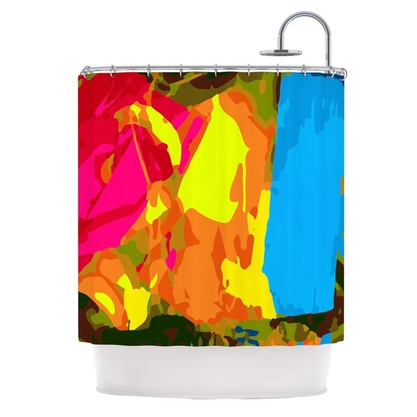 KESS InHouse Matthias Hennig Colored Plastic Shower Curtain (69x70)