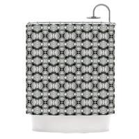 KESS InHouse Matthias Hennig Flor Black White Shower Curtain (69x70)