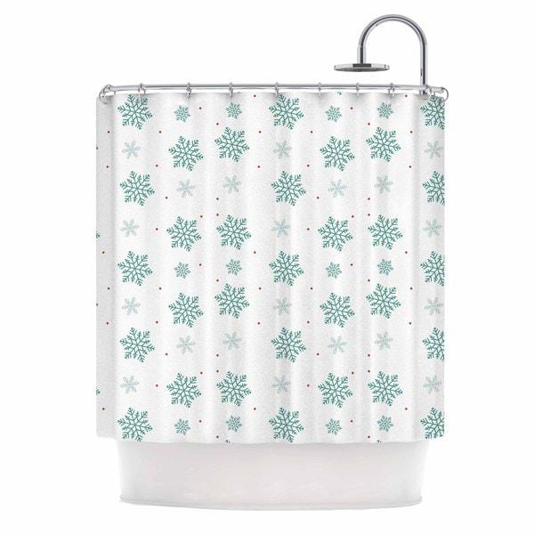 KESS InHouse Louise Snow Pastel White Shower Curtain (69x70)