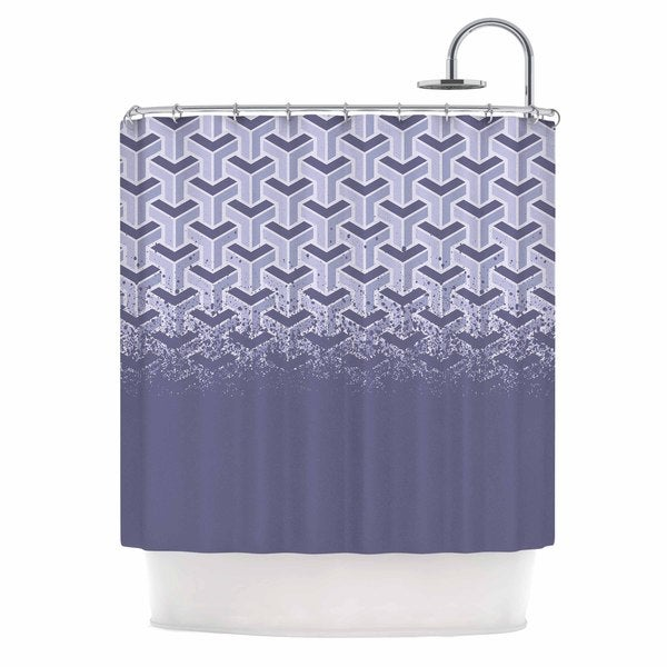 KESS InHouse Just L No Yard Purp Lavender Vector Shower Curtain (69x70)