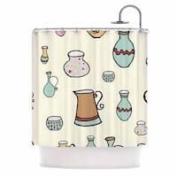 KESS InHouse Louise Jugs Pastel Pattern Shower Curtain (69x70)