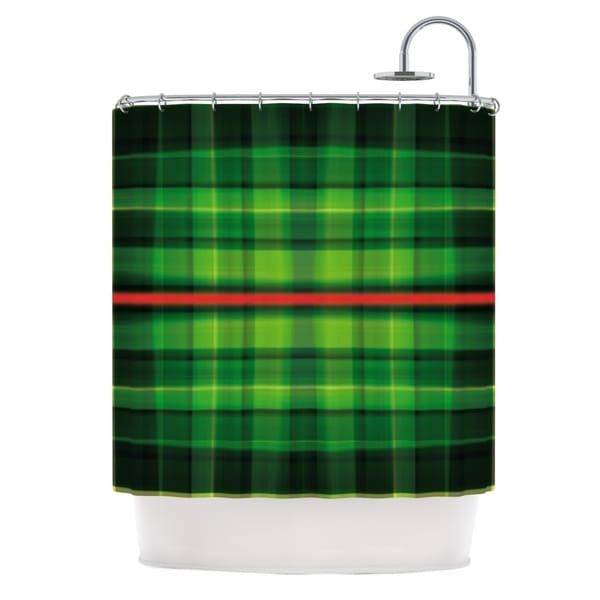 KESS InHouse Matthias Hennig Tartan Shower Curtain (69x70)