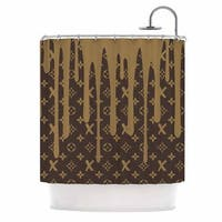 KESS InHouse Just L LX Drip BRN Urban Abstract Shower Curtain (69x70)