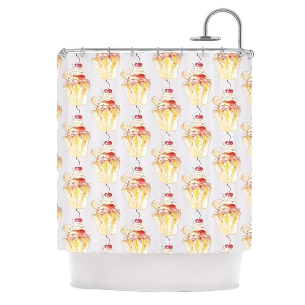 KESS InHouse Louise Cake Cupcake Shower Curtain (69x70)