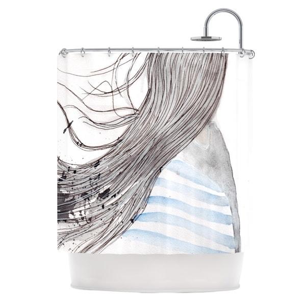 KESS InHouse Louise Breeze Gray Blue Shower Curtain (69x70)