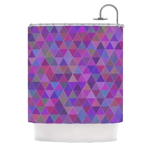 KESS InHouse Louise Abstract Purple Shower Curtain (69x70)